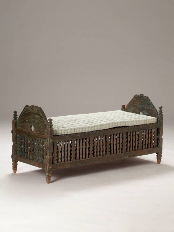 Indonesian Colonial Bench With Cushion