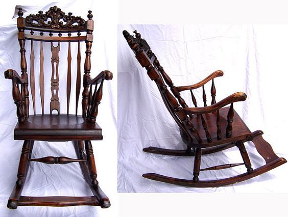 Strange Antique Rocking Chair Hand Carved Baroque Mahogany Victorian Beatyapartments Chair Design Images Beatyapartmentscom