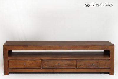 Agge TV Stand 3 Drawers