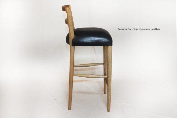 Belinda Bar Chair Genuine Leather